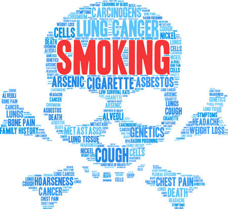 Cigarette word cloud on a white background. 스톡 콘텐츠 - 99113906