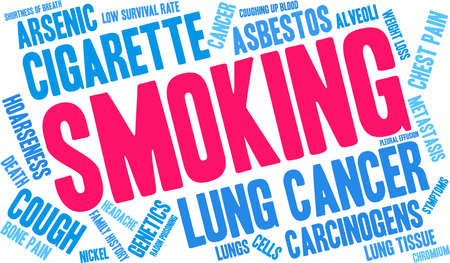 Smoking word cloud on a white background.  일러스트