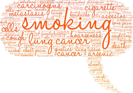 Smoking word cloud on a white background.  Vettoriali