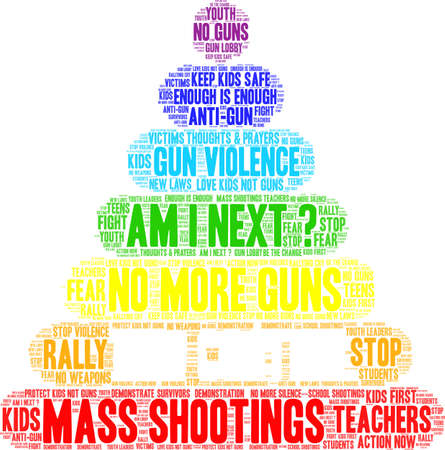 Gun Control word cloud on a white background.  Vettoriali