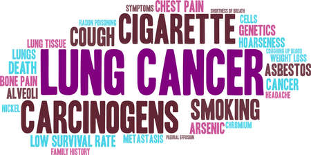 Lung Cancer word cloud on a white background. 스톡 콘텐츠 - 99114168