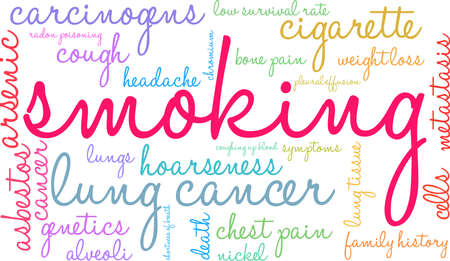 Cigarette word cloud on a white background. Stok Fotoğraf - 99114174