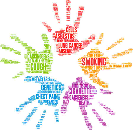 Cigarette word cloud on a white background.  일러스트