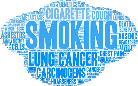 Cigarette word cloud on a white background. Stok Fotoğraf - 99114204