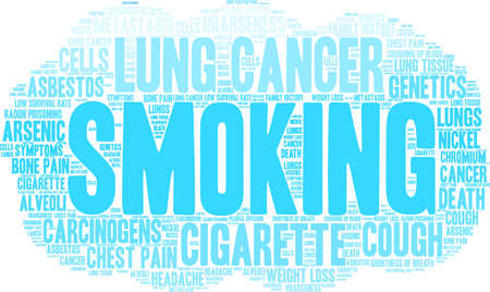 Cigarette word cloud on a white background. Stok Fotoğraf - 99114245