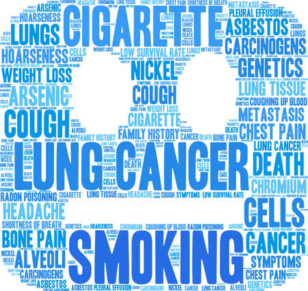 Cigarette word cloud on a white background.  Illusztráció