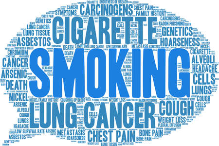 Cigarette word cloud on a white background.  Illustration
