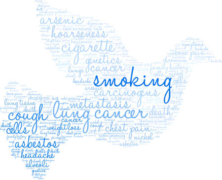 Smoking word cloud on a white background.  Иллюстрация