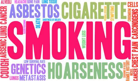 Smoking word cloud on a white background.  Çizim