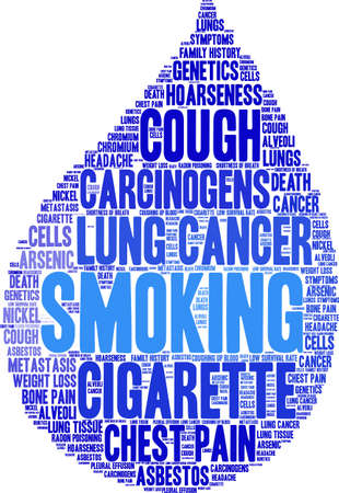 Cigarette word cloud on a white background. Stok Fotoğraf - 99114519