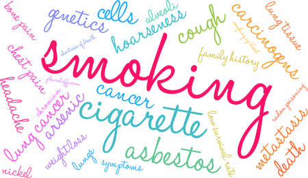 Smoking word cloud on a white background. 스톡 콘텐츠 - 99114531