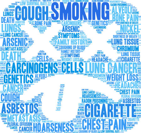 Cigarette word cloud on a white background.  Vettoriali