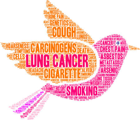 Lung Cancer word cloud on a white background. 스톡 콘텐츠 - 99114674