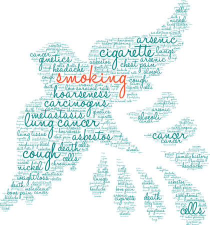 Cigarette word cloud on a white background. Stok Fotoğraf - 99114705