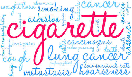 Cigarette word cloud on a white background. 스톡 콘텐츠 - 104264366