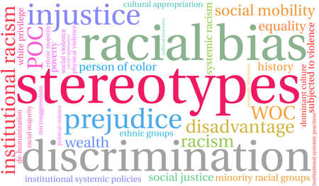 Stereotypes word cloud on a white background. Illustration