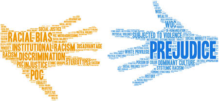 Prejudice word cloud on a white background. 스톡 콘텐츠 - 104292653