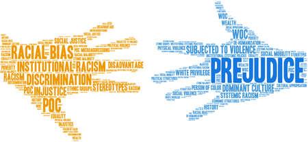 Prejudice word cloud on a white background. Stockfoto - 104292653
