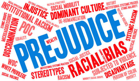 Prejudice word cloud on a white background. 스톡 콘텐츠 - 104292652