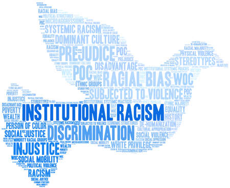Institutional Racism word cloud on a white background. 스톡 콘텐츠 - 104292869