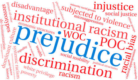 Prejudice word cloud on a white background. 스톡 콘텐츠 - 104293150