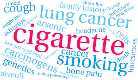 Cigarette word cloud on a white background. 스톡 콘텐츠 - 104293339