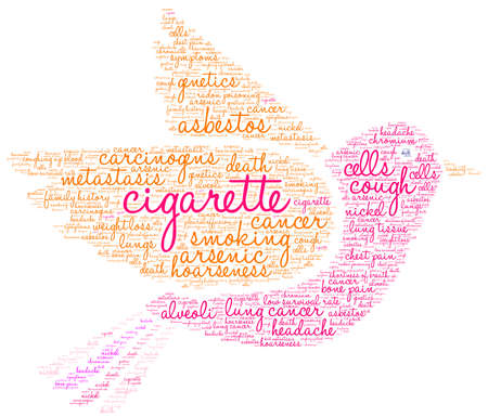 Cigarette word cloud on a white background. Stok Fotoğraf - 104293884