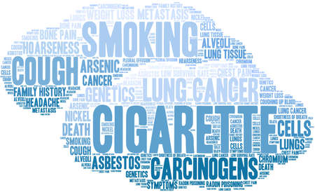 Cigarette word cloud on a white background. Stok Fotoğraf - 104293894