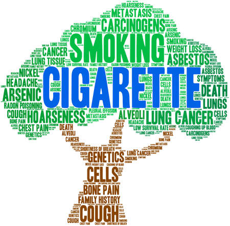 Cigarette word cloud on a white background. Stok Fotoğraf - 104293991