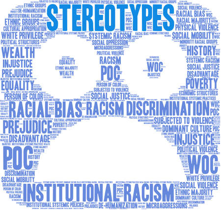 Stereotypes word cloud on a white background. Foto de archivo - 104294100