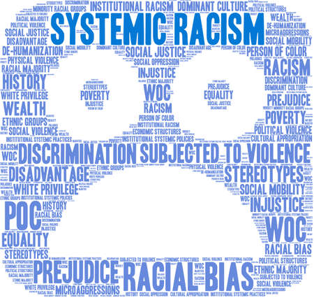 Systemic Racism word cloud on a white background. Imagens - 104294148