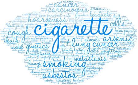 Cigarette word cloud on a white background. 스톡 콘텐츠 - 104294152