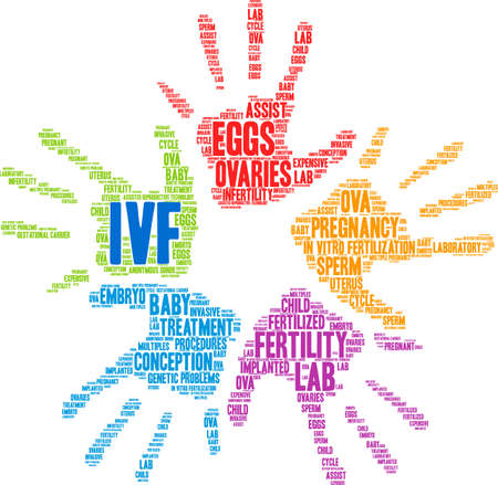 IVF word cloud on a white background. Banque d'images - 108895104