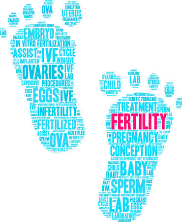 Fertility word cloud on a white background. Illustration