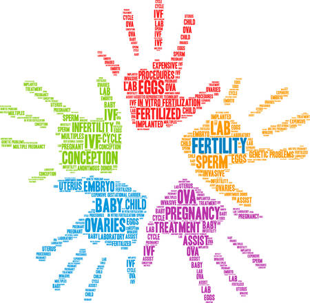 Fertility word cloud on a white background. Banque d'images - 108894782