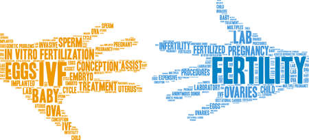 Fertility word cloud on a white background. Ilustrace