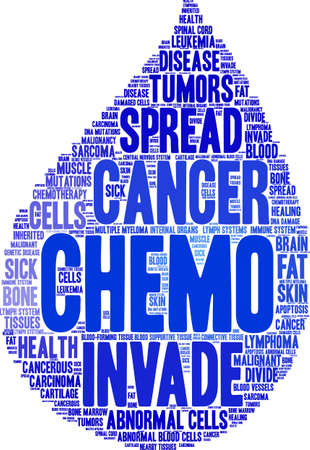 Chemo word cloud on a white background. Illustration