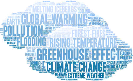 Greenhouse Effect word cloud on a white background. Ilustração