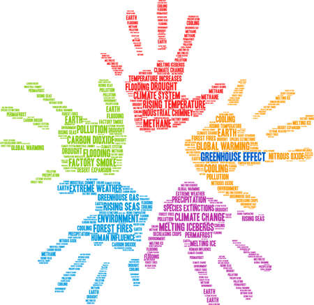 Greenhouse Effect word cloud on a white background. Ilustrace