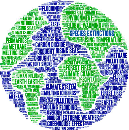 Species Extinctions word cloud on a white background. Banque d'images - 114403541