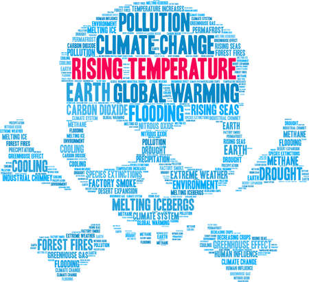 Rising Temperature word cloud on a white background. Banque d'images - 114403662