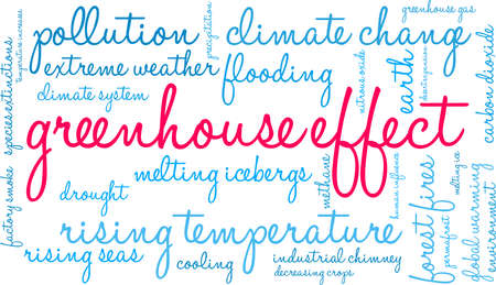 Greenhouse Effect word cloud on a white background. Banque d'images - 114403767