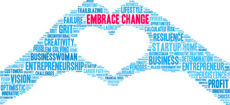 Embrace Change word cloud on a white background.