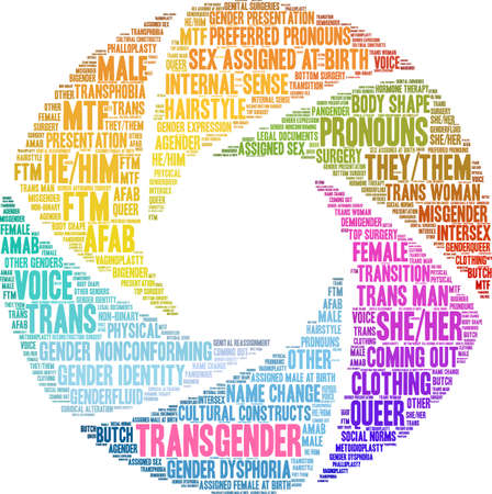 Transgender word cloud on a white background. Banco de Imagens - 115365899
