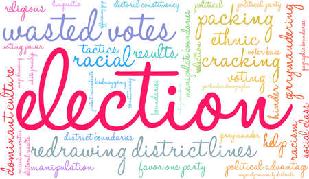 Election word cloud on a white background. Illusztráció