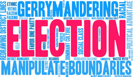 Election word cloud on a white background. Ilustração