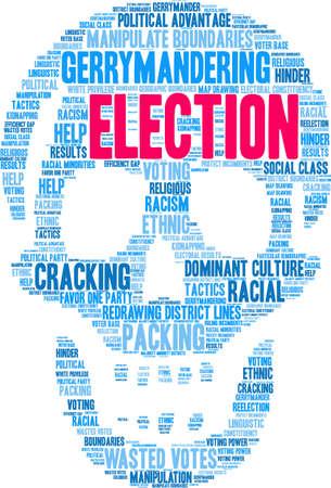 Election word cloud on a white background. Illusztráció