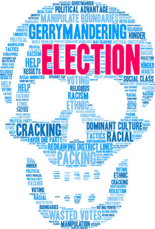 Election word cloud on a white background. Illustration