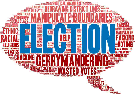 Election word cloud on a white background.