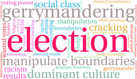 Election word cloud on a white background. Ilustrace